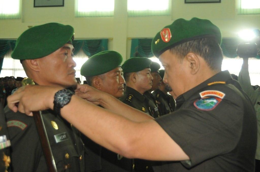 Serah Terima Jabatan dan Tradisi Penerimaan serta Pelepasan Pejabat Golongan IV dan V Kodam XII/Tanjungpura