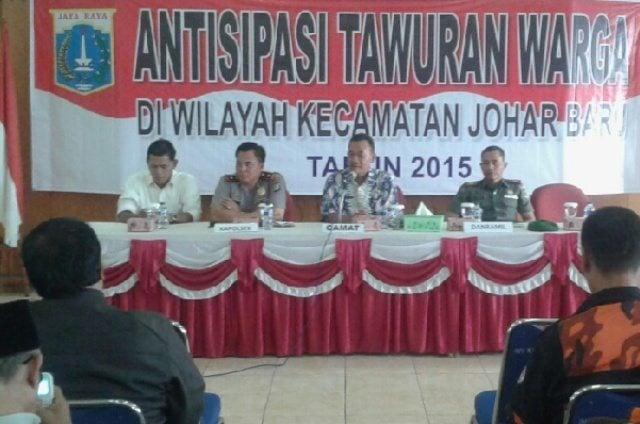 Tiga Pilar Bersama Komponen Bangsa Antisipasi Tawuran Antar Warga Di Wilayah Johar Baru