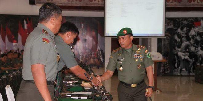 Pangdam Pimpin Rakor Pantap Dan Serah Terima Jabatan Irdam, Perwira Ahli Bidang Sosbud Dan Kakesdam XVII/Cenderawasih