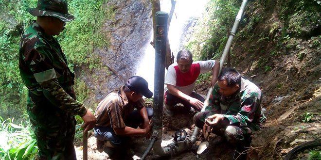 Bantu Kebutuhan Air Warga Kodim Buat Pompa Hidrolik Kartika