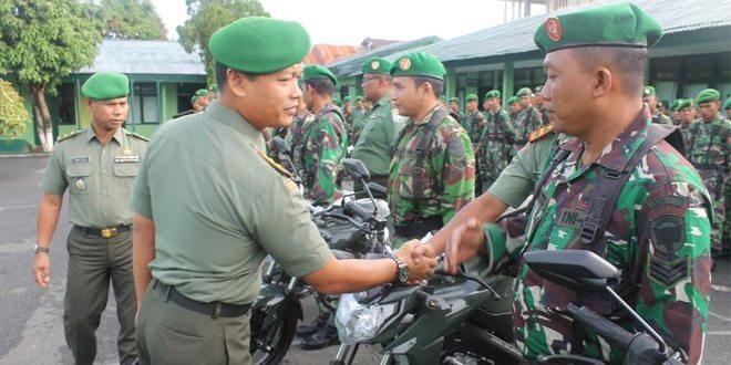 Dandim 0105/Aceh Barat Memberikan Motor Dinas Kepada Babinsa