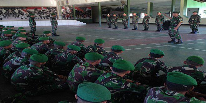 Yonif 752/VYS Sosialisasikan PUDD Terbaru Tentang Serah Terima Jaga Kesatriaan