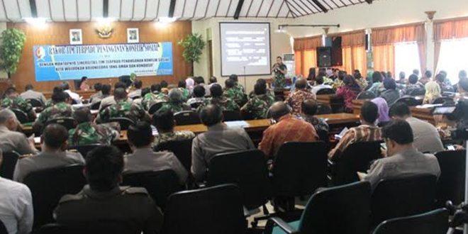 Rapat Koordinasi Tim Terpadu Penanganan Konflik Sosial di Bojonegoro