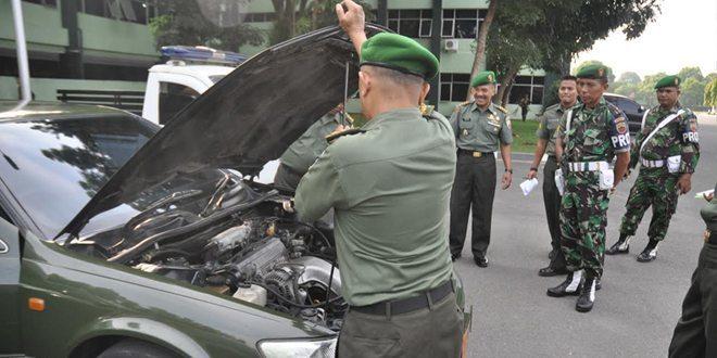 Kodam I/Bb Gelar Pemeriksaan Kendaraan Dinas