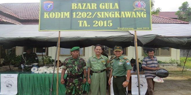 Kodim 1202/Skw Bazar Murah Dalam rangka Menyambut Hari Besar Keagamaan