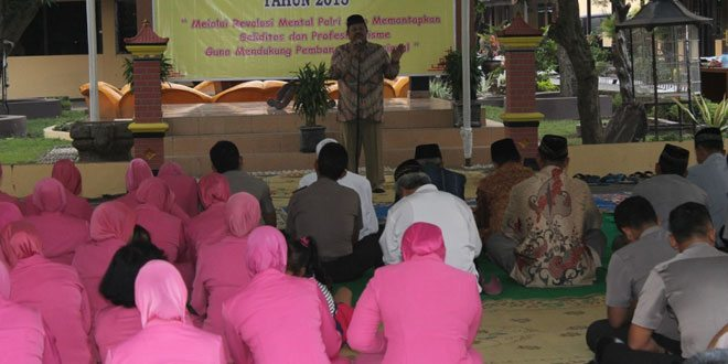 Dandim 0725/Sragen Hadiri HUT Bhayangkara ke -69 Th. 2015 Polres Sragen