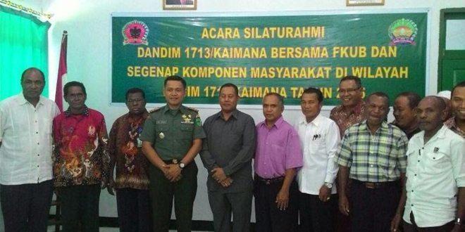 Seluruh Jajaran Kodam XVII/Cenderawasih Gelar Pertemuan Lintas Agama Di Papua Dan Papua Barat