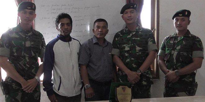 Jalin Sinergitas, Danyonif 752/VYS Kunjungi Kantor Papua Barat Pos