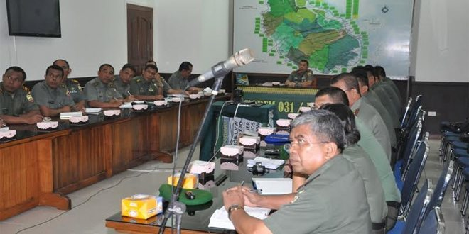 Danrem 031/Wirabima Pimpin Rapat Hasil Rapim TNI