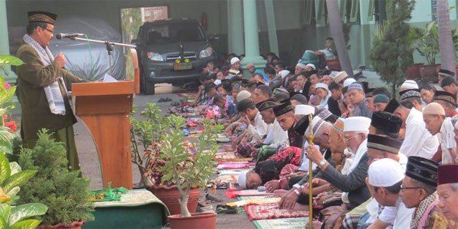 Sholat Idul Fitri 1436 H di Makodim 0713/Brebes