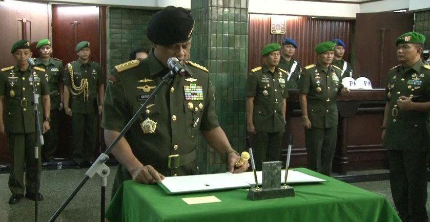 Pesan Jenderal TNI Gatot Nurmantyo Kepada Prajurit TNI AD Dalam Acara Tradisi Korps Sertijab Kasad