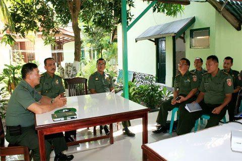 Kesdam VI/MLW Melaksanakan Rakor PNBP Yanmasum, RKA Dan Pengadaan Barang & Jasa