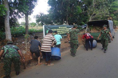 Kodim 1009/Pelaihari Melaksanakan Gerakan Nasional Indonesia Bersih