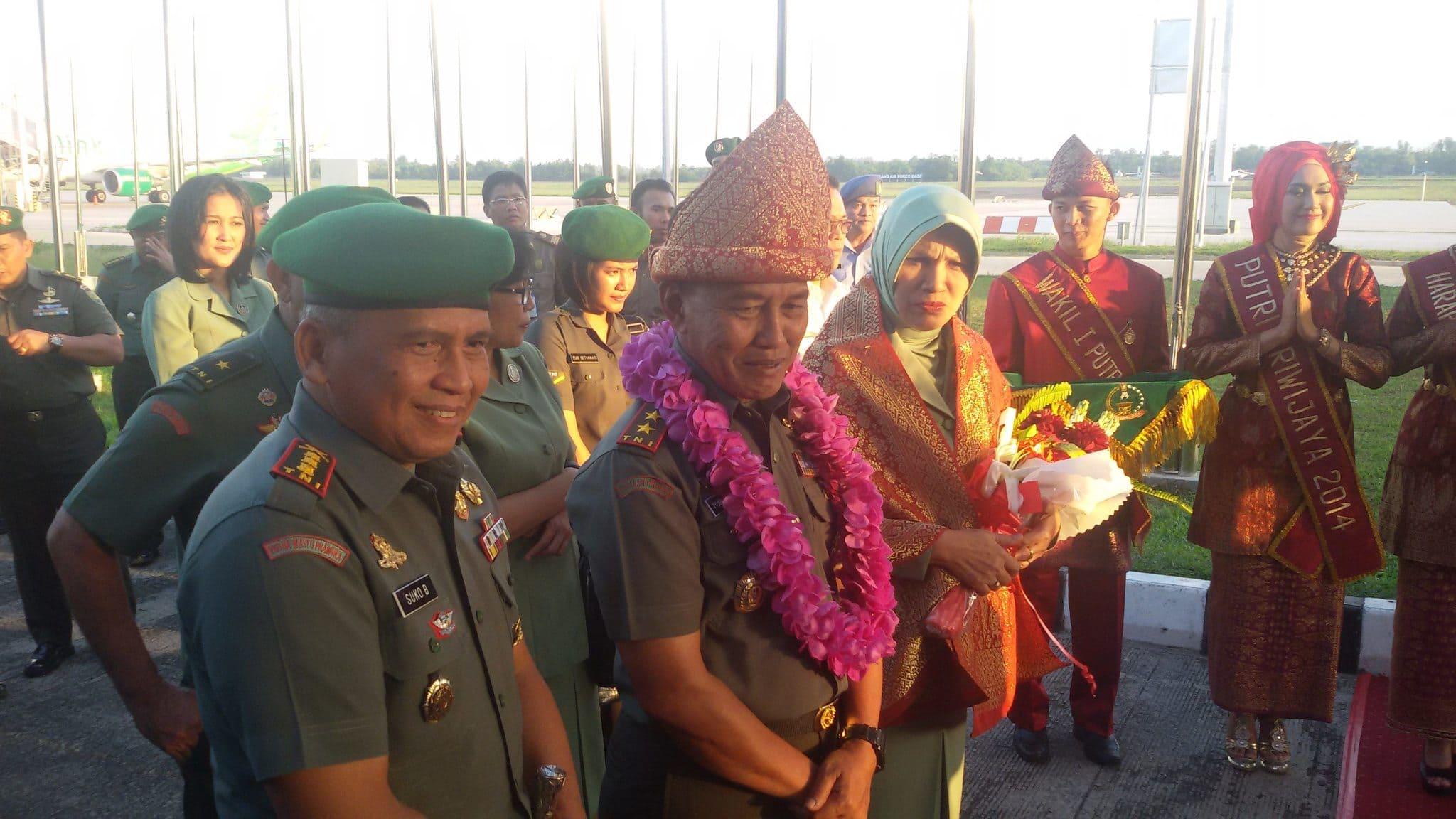 Calon Pejabat Pangdam Ii/Sriwijaya Tiba Di Kota Palembang