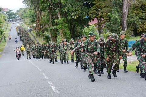 Prajurit Kodam Vi/Mlw Laksanakan Minggu Militer