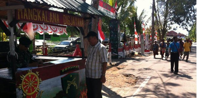 Pos Kotis Yonif 323/Raider Laksanakan Sweeping Pelintas Batas