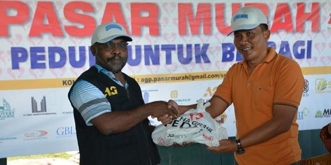 Korem 171/PVT Bekerja Sama Dengan PT. Artha Graha Gelar Bazar Murah