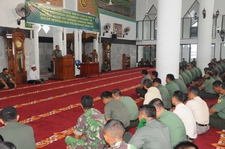 Korem 031/Wirabima Hikmat Mengikuti Nuzul Qur'An