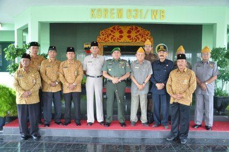 Audiensi Para Veteran Pejuang Disambut Baik Danrem 031/Wirabima