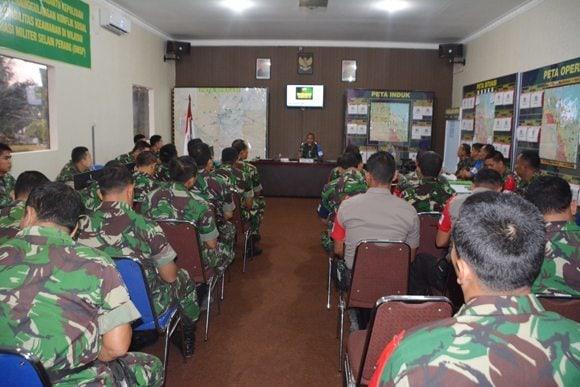 Danrindam I/Bb Kolonel Inf Gabriel Lema, S.Sos Buka Taklimat Awal Latihan Kesiapsiagaan Kodam I/Bb Ta. 2015