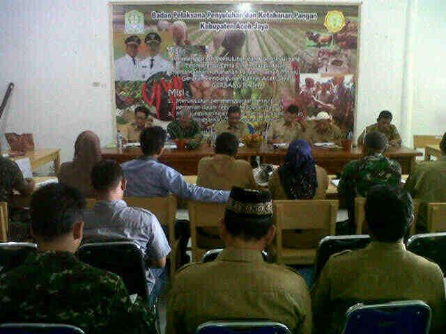 Pasiter Mewakili Dandim 0114/Aceh Jaya Menghadiri Acara Rapat Koordinasi