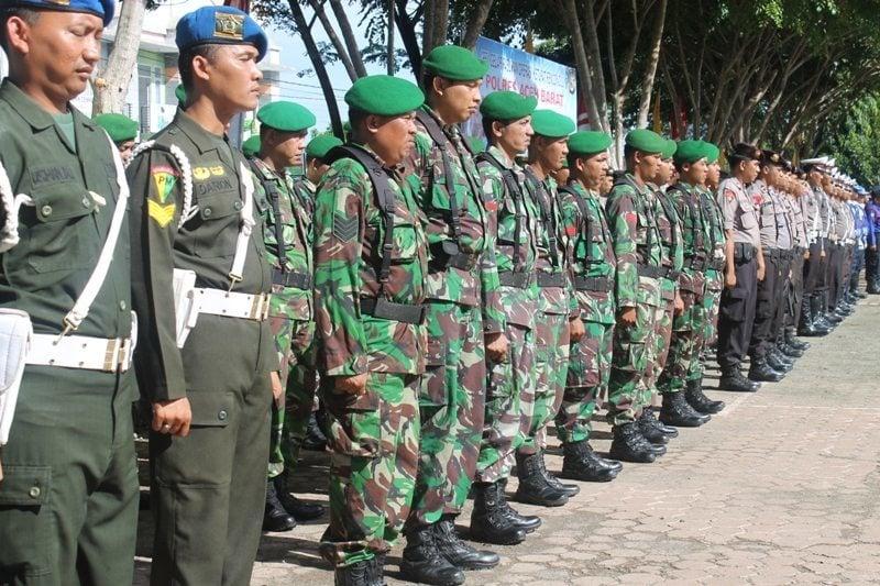 Kodim 0105/Aceh Barat Mengikuti Apel Gabungan Operasi Ketupat Tahun 2015