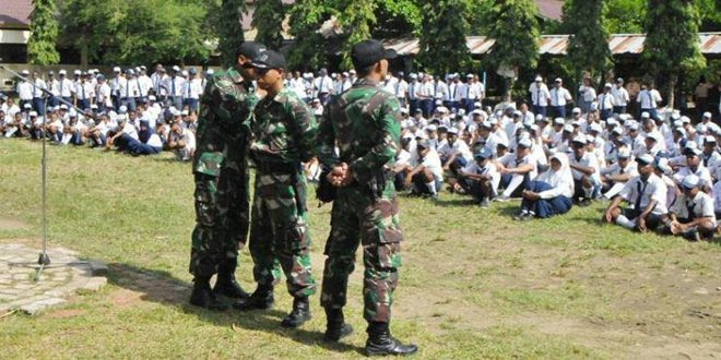 Korem 172/PWY Latih PBB Siswa Baru SMKN 3 Jayapura