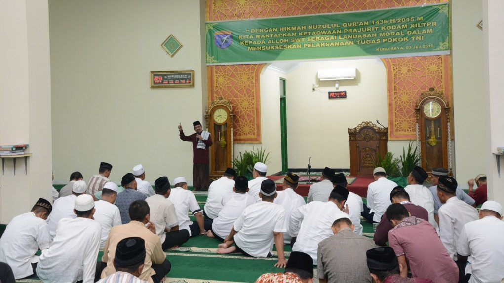"Pangdam XII/Tpr : ""Tingkatkan Kualitas Ibadah, Baca Al Qur'an, Pahami Dan Amalkan"""