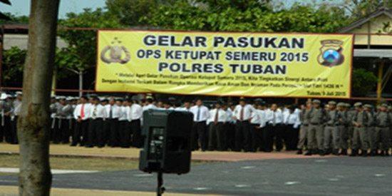 Apel Gelar Pasukan Operasi Ketupat 2015 Tuban