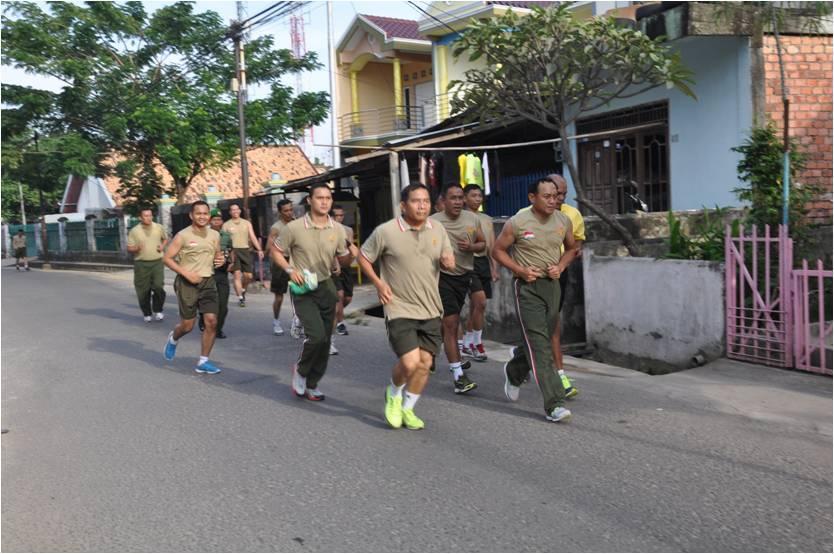 Pangdam, Pimpin Prajurit Kodam II/Swj Lari Jalanan