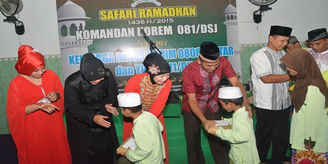 Safari ramadhan Danrem 081 Kolonel Czi M. Reza Utama Ke Blitar (3)