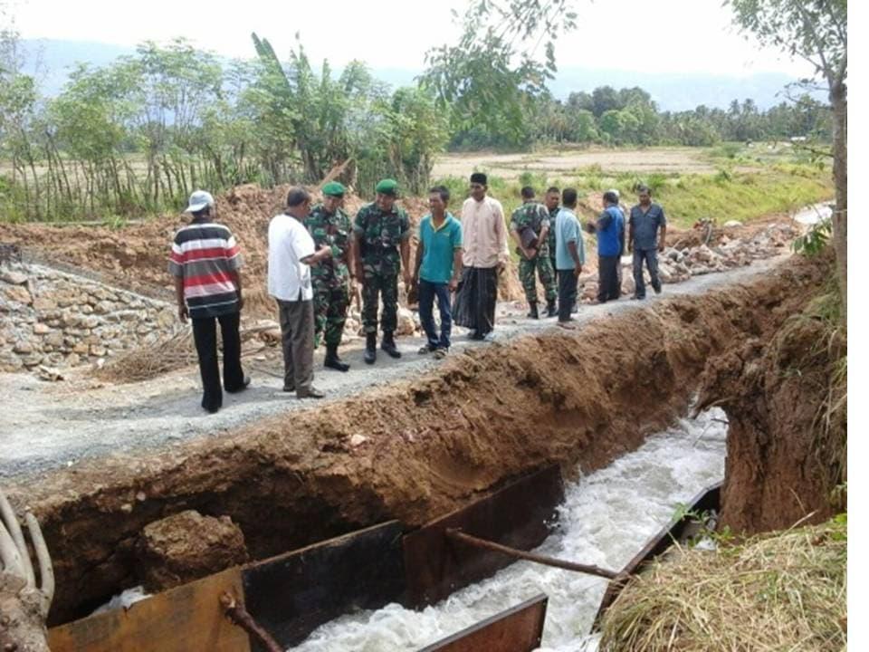 Dandim 0101/BS Mengecek Pembangunan Bendungan Irigasi