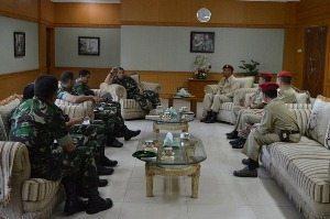 Persatuan Pengurus Purnawirawan Angkatan Darat Audiensi dengan Pangdam VII/Wirabuana