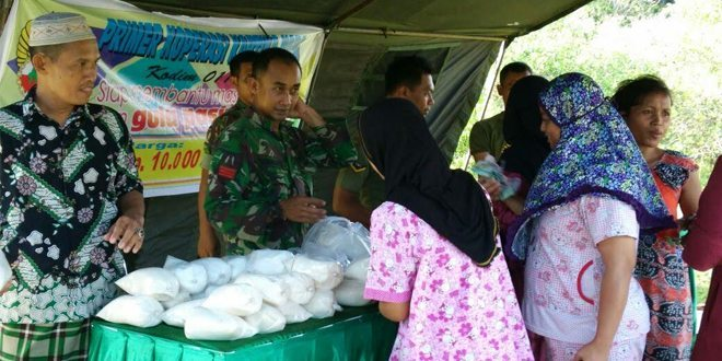 Gelar Pasar Murah Di Kodim Nagan Raya