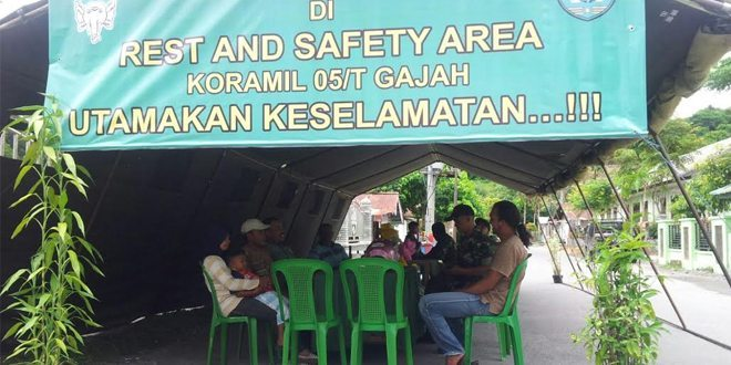Kodim 0106/Ateng Dirikan Rest And Safety Area Dan Posko Mudik Lebaran