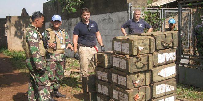 Pasukan Garuda Evakuasi 6 Ton Bahan Peledak Aktif di Afrika