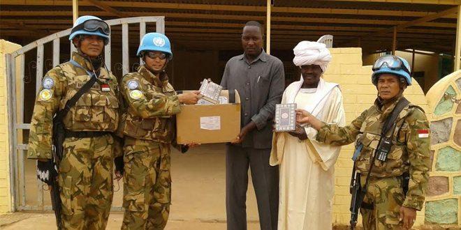 Ramadhan di Wilayah Misi Indobatt Beri Bantuan Alat Ibadah di Darfur