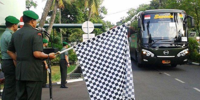 Pangdam Jaya Melepas Pemberangkatan Mudik bersama Militer dan PNS Kodam Jaya