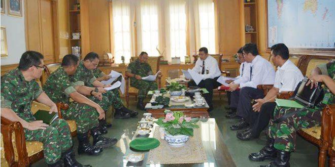 Pangdam II/Swj Terima Audiensi Pejabat BPKP Provinsi Sumsel
