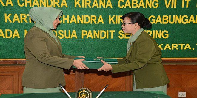 Penerimaan Jabatan Ketua Persit KCK Cabang VII IT PG Kostrad Dari Ketua Persit KCK Gabungan Kostrad