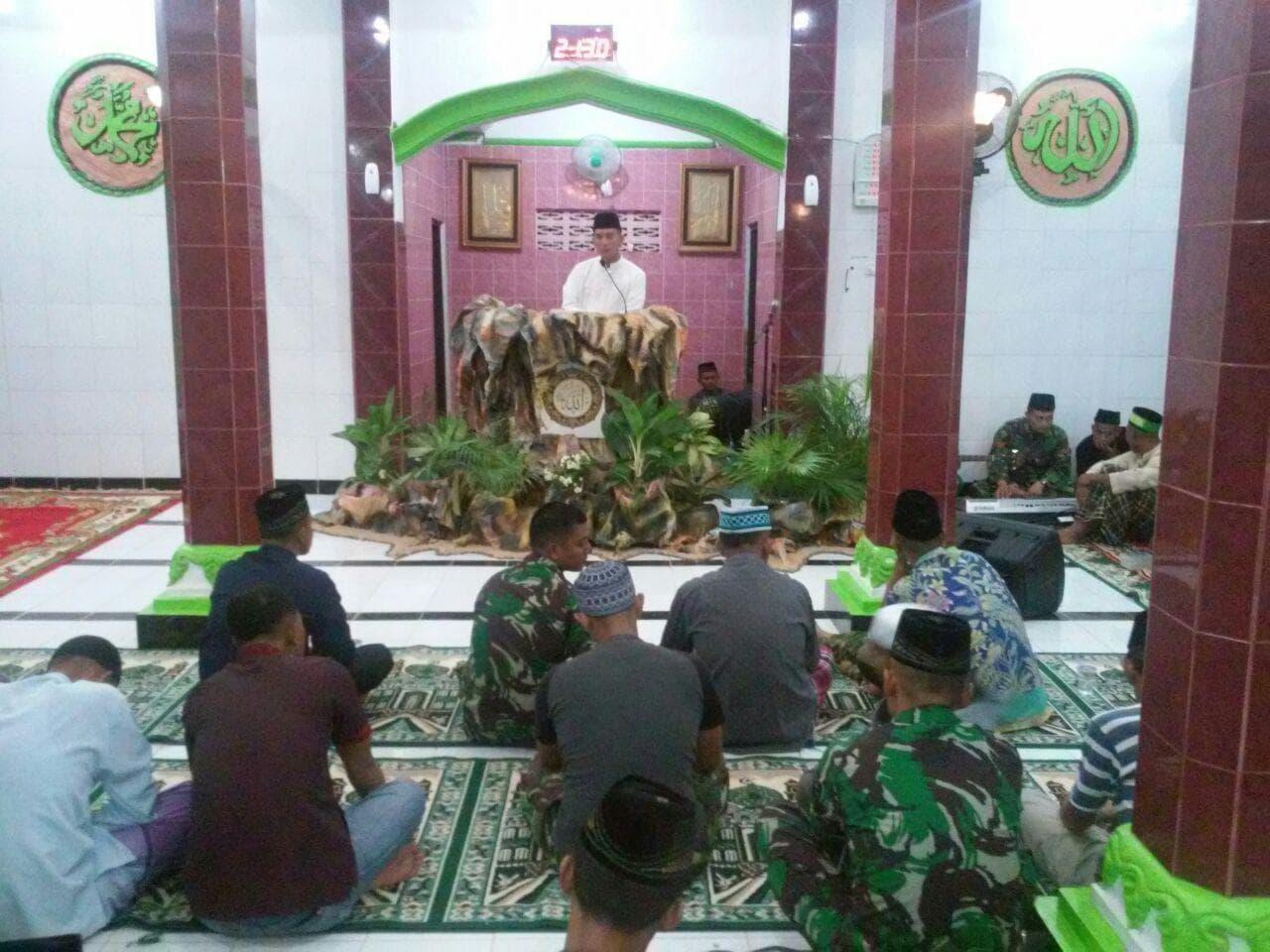 Peringatan Nuzurul Qur'an di Masjid Baitul Salam Yonif 752/VYS