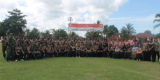 Kodim 0105/Aceh Barat Melaksanakan Apel Gabungan Dengan FKPPI Dan PPM