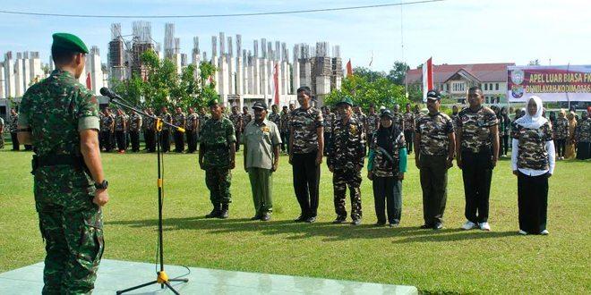 Dandim 0116 Pimpin Apel Luar Biasa FKPPI & PPM Nagan Raya