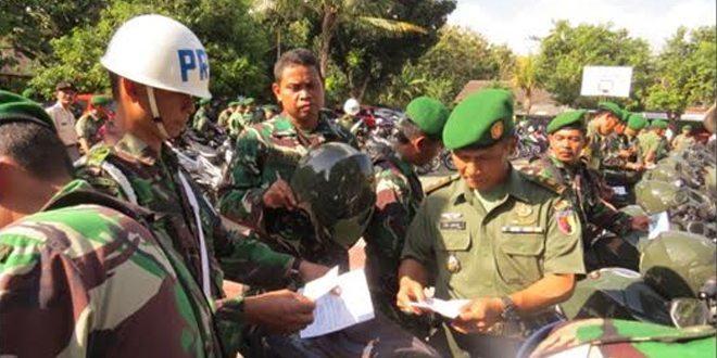 Kodim Tuban Laksanakan Pemeriksaan Kendaraan Jelang Cuti Idhul Fitri 1436 H