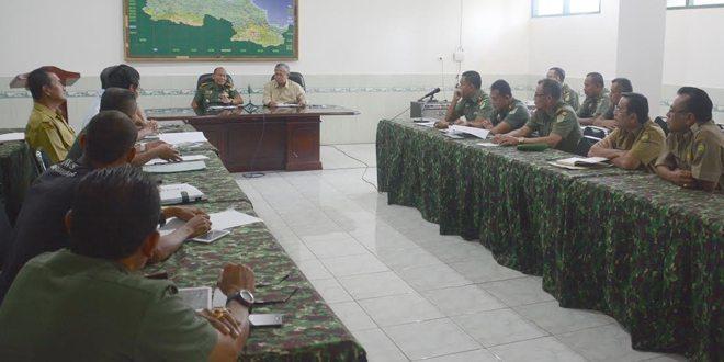 Danrem 063/Sgj Adakan Rapat Atasi Kekeringan Diwilayah III Cirebon