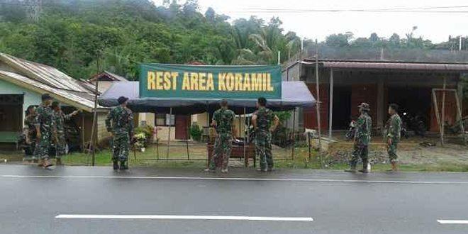 Koramil Jajaran Kodim 0114/ Aceh Jaya Menjadi Rest Area Pemudik