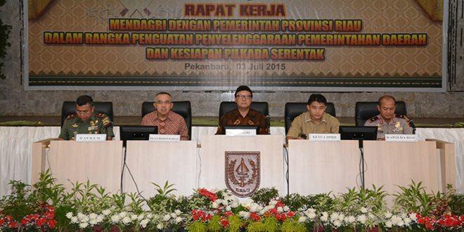 Danrem 031/Wirabima Sambut Kunjungan Mendagri ke Bumi Melayu