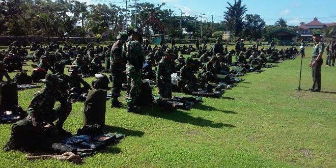 Persiapan Latihan Raider, Yonif 752/VYS Laksanakan Gelar Perlengkapan
