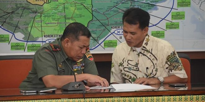 Danrem 031/Wirabima Pimpin Rapat Persiapan KKN Kebangsaan Tahun 2015
