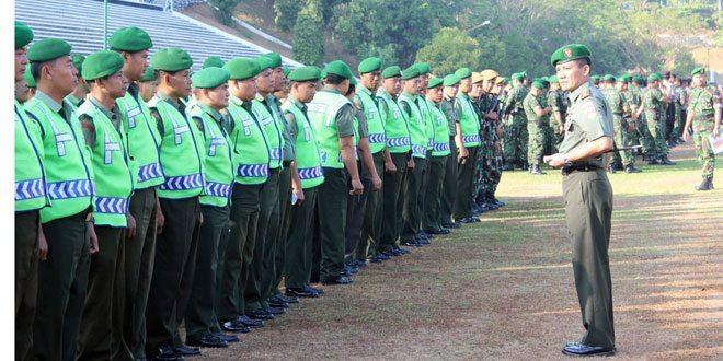 Kodim 0733 Kota Semarang Kerahkan Seluruh Babinsa Guna Pengamanan Kunjungan Kerja Presiden RI